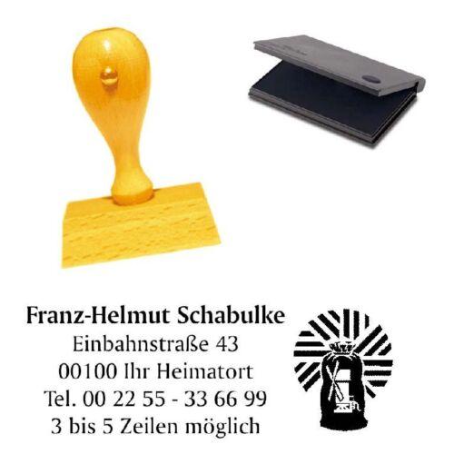 Büro & Schreibwaren Firmenstempel Stempel Adressenstempel « MÜLLER » mit Kissen