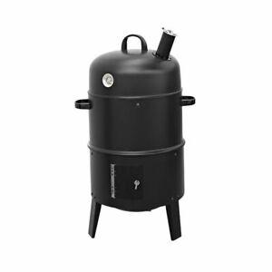 Smoker-Grill-BBQ-Raeucher-und-Grillofen-mit-Thermometer-3-in-1-mit-Thermometer