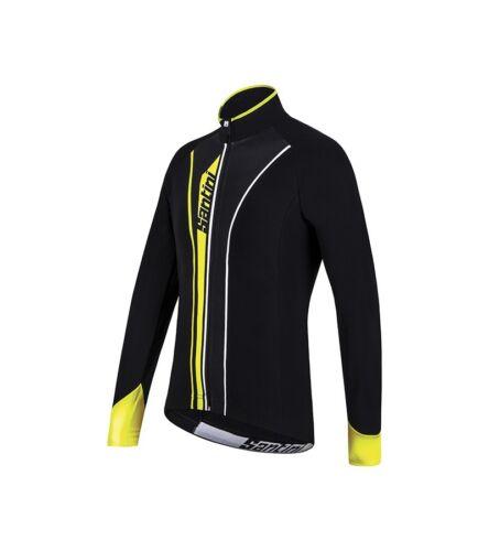 L Black//Yellow Santini Vega AquaZero Long Sleeve Thermofleece Jersey M