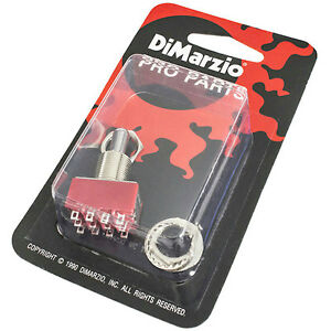 NEW DiMarzio 3 Way 4 Pole Double Throw Pickup Selector Switch On-On ...