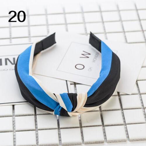 Headband Stripe Hair tie Wrap Hoop Women Fashion Cross Twist Knotting Accessory