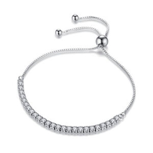 4c028c96a06 Image is loading 925-Sterling-Silver-Austrian-Crystal-Bead-Clasp-Bracelet-
