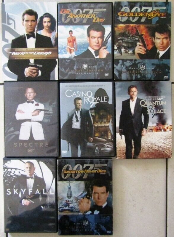 007 - 12 DVD's in total