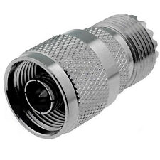 N-Type Male To UHF PL259 Female Adapter - Coaxial Connector Coupler - Radio RF