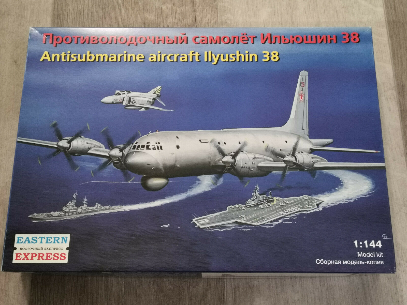 1 144 Ilyushin IL-38 AntiSubmarine Aircraft Bausatz (Eastern Express)