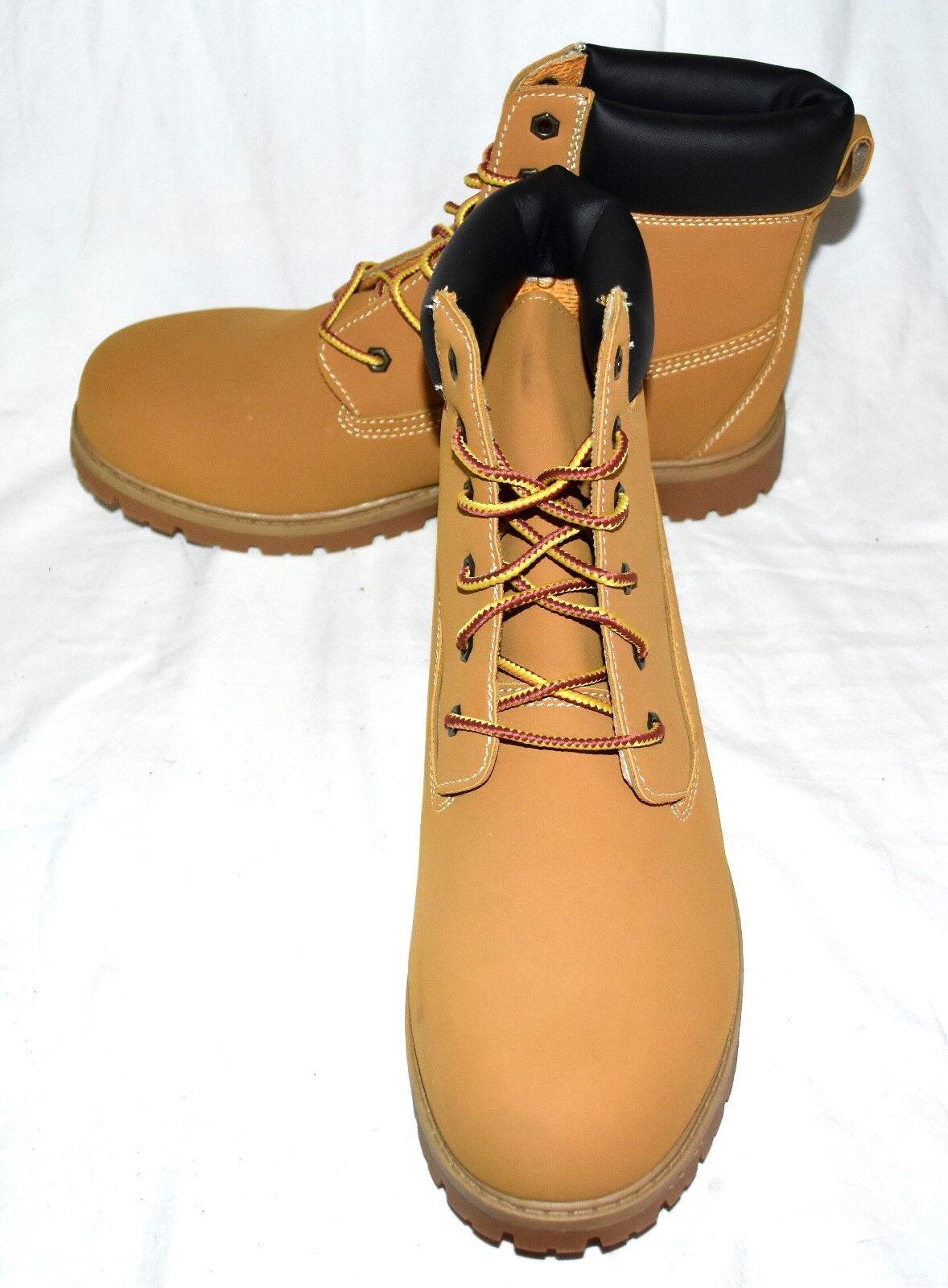 Ozark Trails Brown Faux Leather Mens Work Fashion Dress Hi Top Boots Size 13