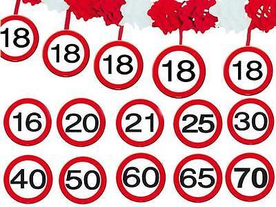 (0,88€/m) Girlande Verkehrs Schild Party Dekoration Jubiläum Geburtstags PARTY