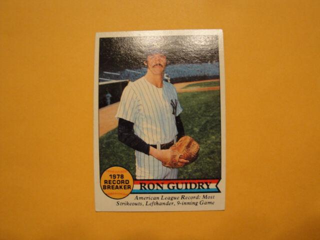 1979 Topps #202 Ron Guidry Record Breaker