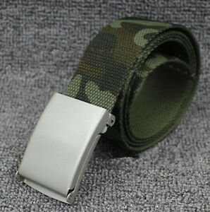 Children-Teen-Boys-Camo-Army-Military-green-camouflage-Casual-Canvas-Pants-Belt