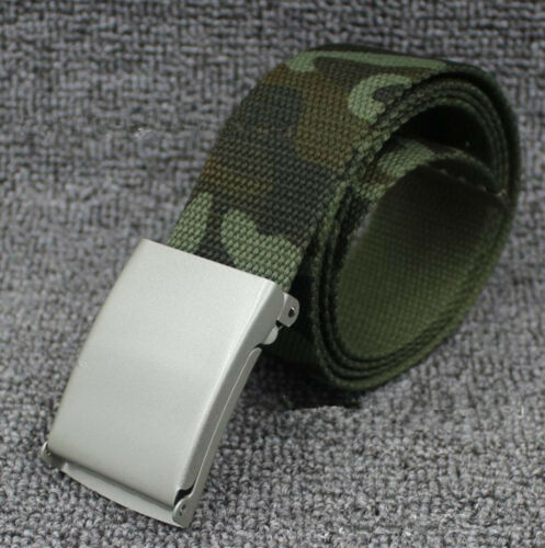 Children Teen Boys Camo Army Military green camouflage Casual Canvas Pants Belt