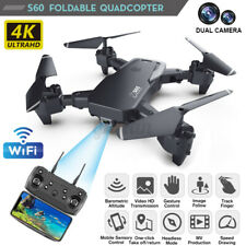 S60 Foldable RC Drone Quadcopter With HD 4K WIFI 1080P Dual Camera Altitude  E