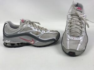 c47c224ce03 Nike Reax Run 5 Womens Running Shoes Size 7.5 White Silver Pink ...