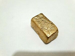 120 grams Scrap gold bar for Gold Recovery melted different computer coin pins