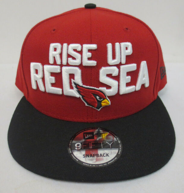 51c1b4a337bf52 ARIZONA CARDINALS DRAFT DAY NFL CAP RISE UP RED SEA NEW ERA SNAPBACK MENS