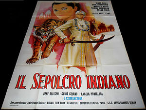 Details About 1959 Indian Tomb Poster Fritz Lang Das Indische Grabmal Sexy Art Debra Paget