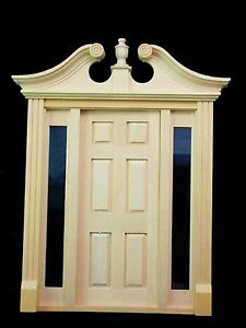 Image is loading Deerfield-Door-w-Sidelights-dollhouse-miniature-6028 & Deerfield Door w/ Sidelights dollhouse miniature #6028 | eBay pezcame.com