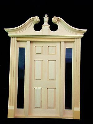 Dollhouse Miniature Deerfield Door Pediment Set of 2 Houseworks