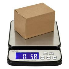 110 Lb X 01oz Black Amp Silver Digital Shipping Postal Scale With3x Aaa Battery