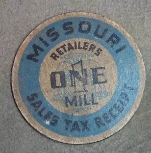 Missouri-Retailers-one-1-Mill-Sales-Tax-Receipt-token-41mm-FREE-SHIPPING