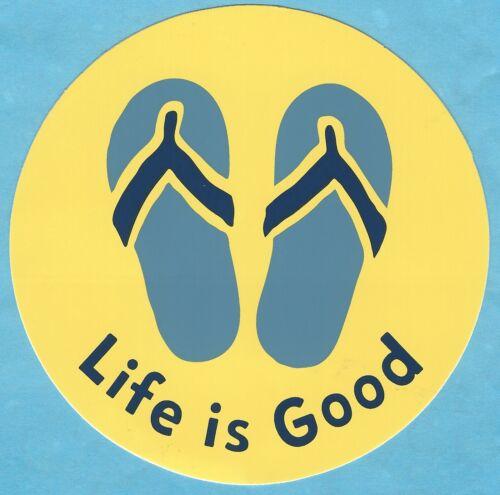 "NEW LIFE IS GOOD 4/"" STICKER DECAL...FLIP FLOPS!!"