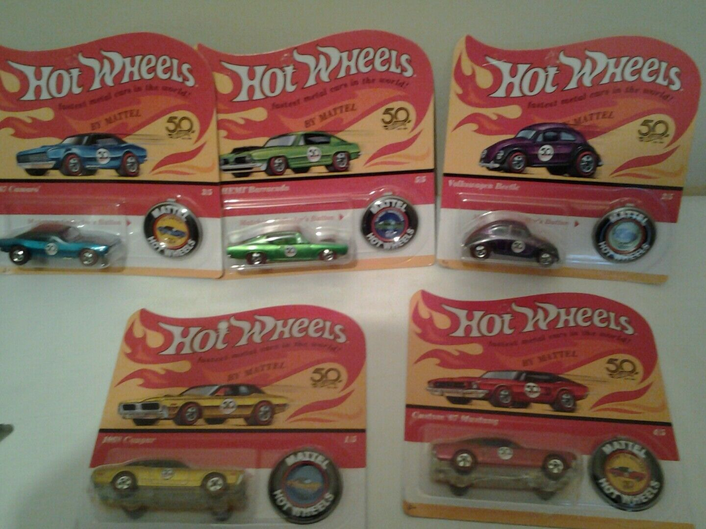 Hot wheels 50th anniversary redline set 5