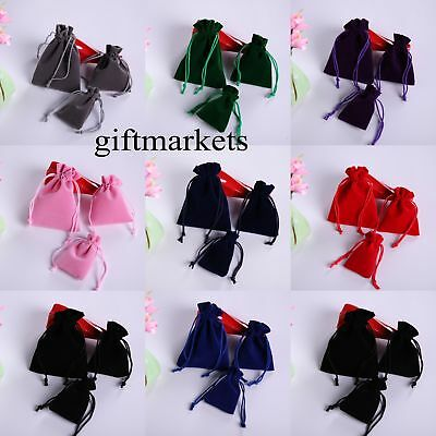 10//20//50 Velvet Bags Jewelry Wedding Party Favors Gifts Drawstring Pouches