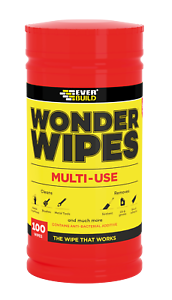 300 /& 500 Wipe Tubs 100 Everbuild Multi Purpose Wonder Wipes