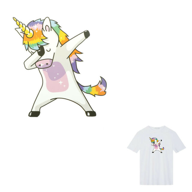 Unicorn Patches Heat Transfer Iron On Parches DIY Washable Clothes Stickers E LL