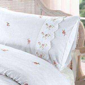 Sophie Blumenmuster Einzelbettbezug Set Vintage Bettwäsche Weiß Ebay