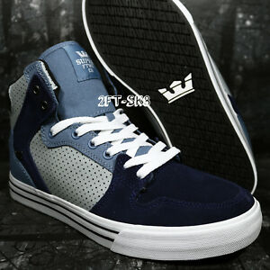 cd2490c2cc SUPRA VAIDER SLATE BLUE NAVY WHITE SIZE 10 MEN'S SKATE SHOES /skytop ...
