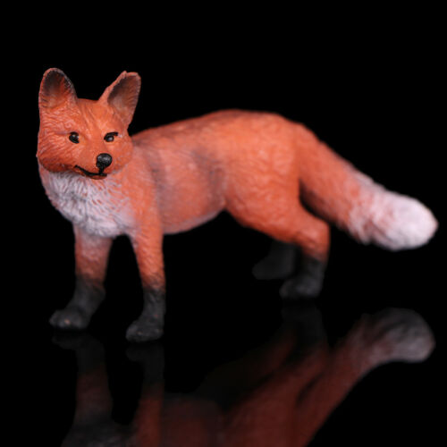 Realistic red fox wildlife zoo animal figurine model figure for kids toy gi Fg