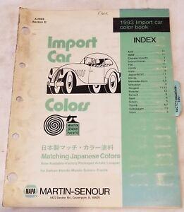 1983 NAPA Martin Senour Paints Import Car Color Chips ...