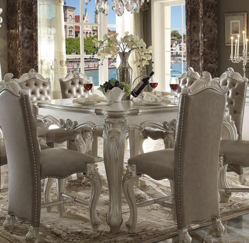 Acme Furniture White Versailles Dining Room Set Classic