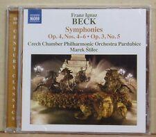 CD Franz Ignaz Beck Symphonies Op.4 & 3 CCPO Marek Stilec Naxos 2014 neu & ovp