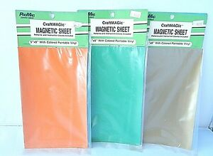 Magnetics-Flexible-Magnetic-Sheet-COLORED-PAINTABLE-VINYL-5-034-X-8-034-NEW