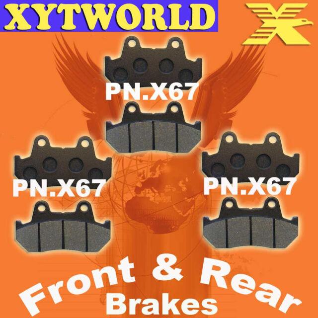 Front Rear Brake Pads for Honda CBX1000 CBX 1000 B/C
