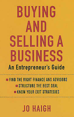 Buying and Selling a Business: An Entrepreneur's Guide-ExLibrary