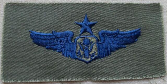 US AIR FORCE MASTER AIR CREW WINGS LAPEL HAT PIN BADGE 3 INCHES AIRCREW