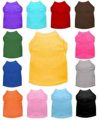 4270f502c Blank Dog Plain Shirts Puppy Pet Cat Tee T-Shirt Tank Clothes Apparel XS-6XL