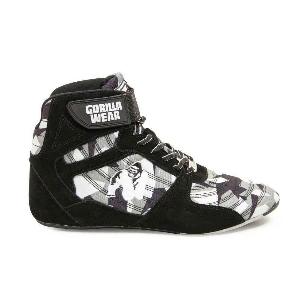 Gorilla Wear Perry High Tops Pro – Black/Gray Camo Bodybuilding Fitness 36 - 47