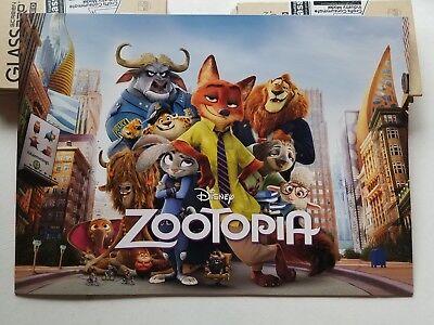 Disney Zootopia 2016 Commemorative Lithograph 4 pc set  New