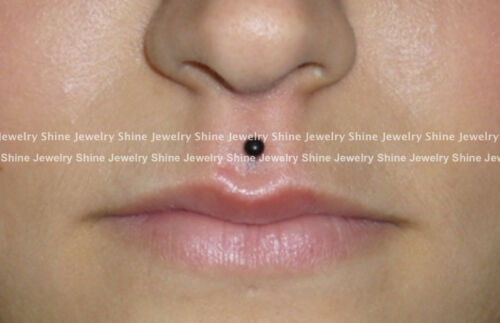6mm 8mm 10mm 12mm 1x Titanium Steel Ball Labret Tragus Ear Lip Bar Stud Piercing