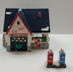 Dept-56-Original-Snow-Village-Big-Bill-039-s-Service-Station-Retired