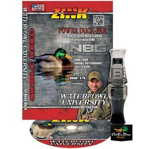 ZINK-CALLS-NBG-NOTHING-BUT-GREEN-POLY-MALLARD-HEN-DUCK-CALL-W-DVD-SMOKE