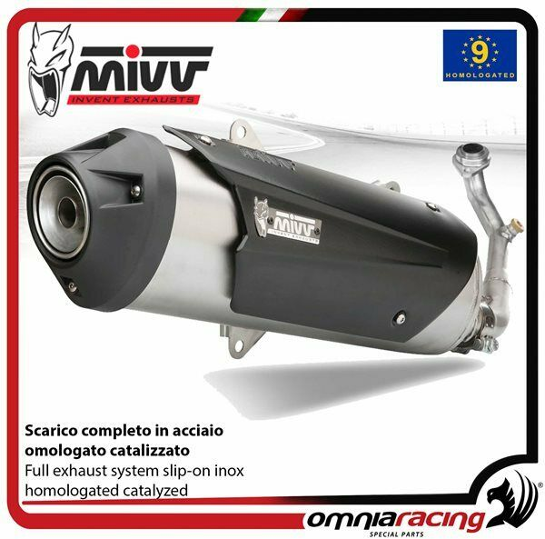 MIVV Urban full system catalyzed inox homol PIAGGIO BEVERLY TOURER 250/300 2008>