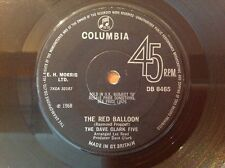 THE DAVE CLARK FIVE 1968 Vinyl 45rpm Single THE RED BALLOON