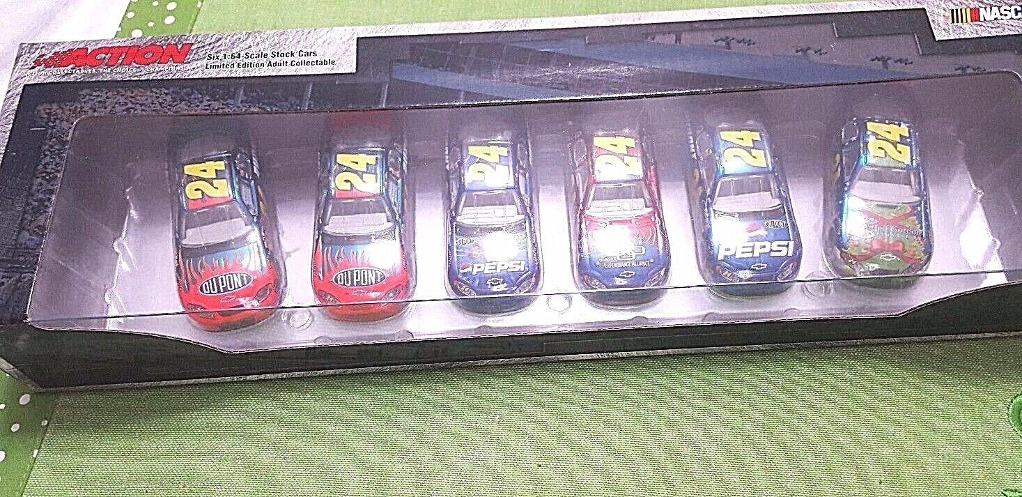 en venta en línea NasCoche, Jeff Gordon  24, Limited Ed. 1 1 1 de 504,DIE coche fundido conjunto de 6, Vintage 2005  grandes precios de descuento