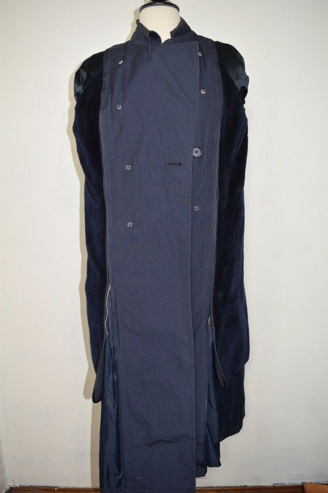 DSCP Defender Collection Trench Rain Coat Coat Coat Navy bluee Military Fleece Lining Sz 6R f70a96