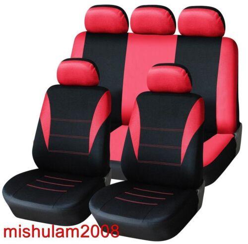 Sitzbezüge Schonbezüge Auto PKW Satz Hochwertig Rot Polyester Neu für
