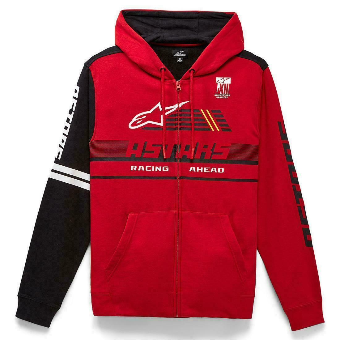 Alpinestars Overtake Mens Zip Up Hoody Red - Large New for 2021